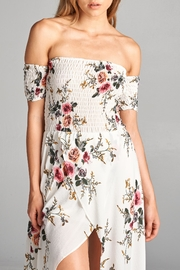 Racine Floral Off Shoulder Dress - Back cropped