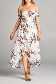 Racine Floral Off Shoulder Dress - Front cropped