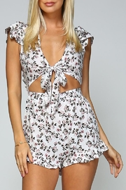 Racine Floral Ruffle Romper - Product Mini Image