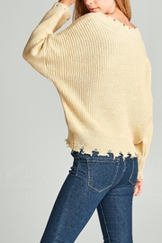 Racine Frayed Edge Sweater - Side cropped
