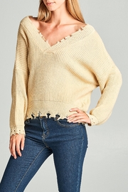 Racine Frayed Edge Sweater - Front full body