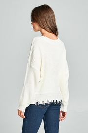 Racine Frayed Sweater - Back cropped