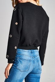 Racine Holey Crop Top - Side cropped