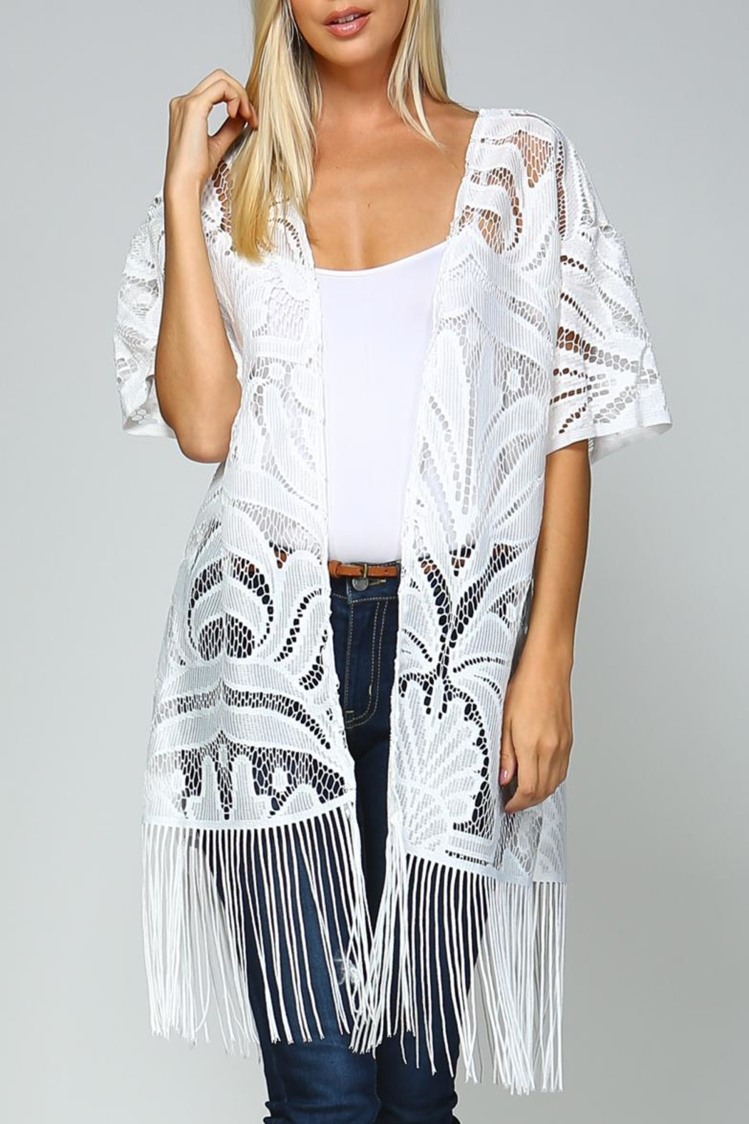 Racine White Lace Kimono from California — Shoptiques