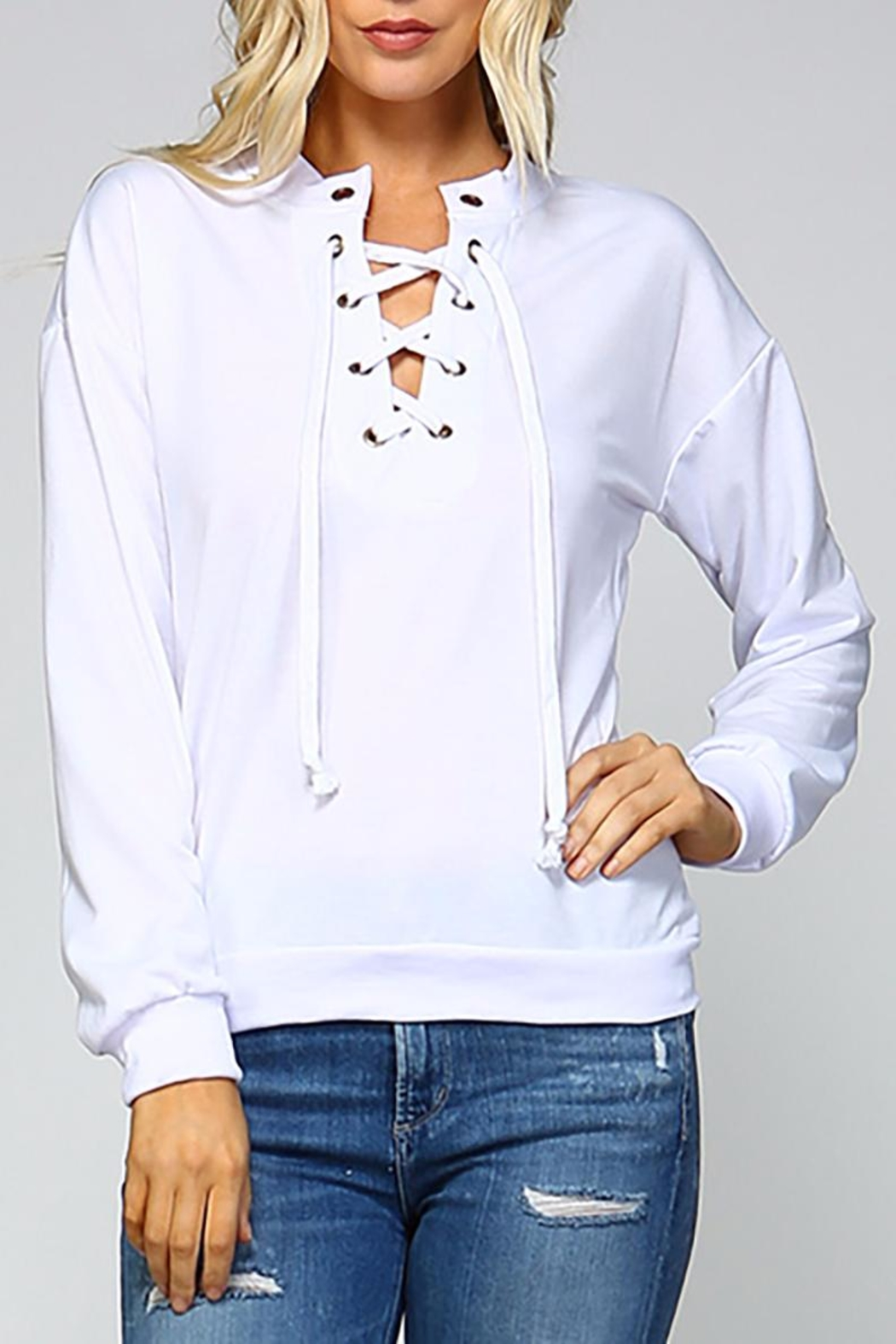 c1f9388b3dc Racine Lace Me-Up Top from California by Racine Love — Shoptiques