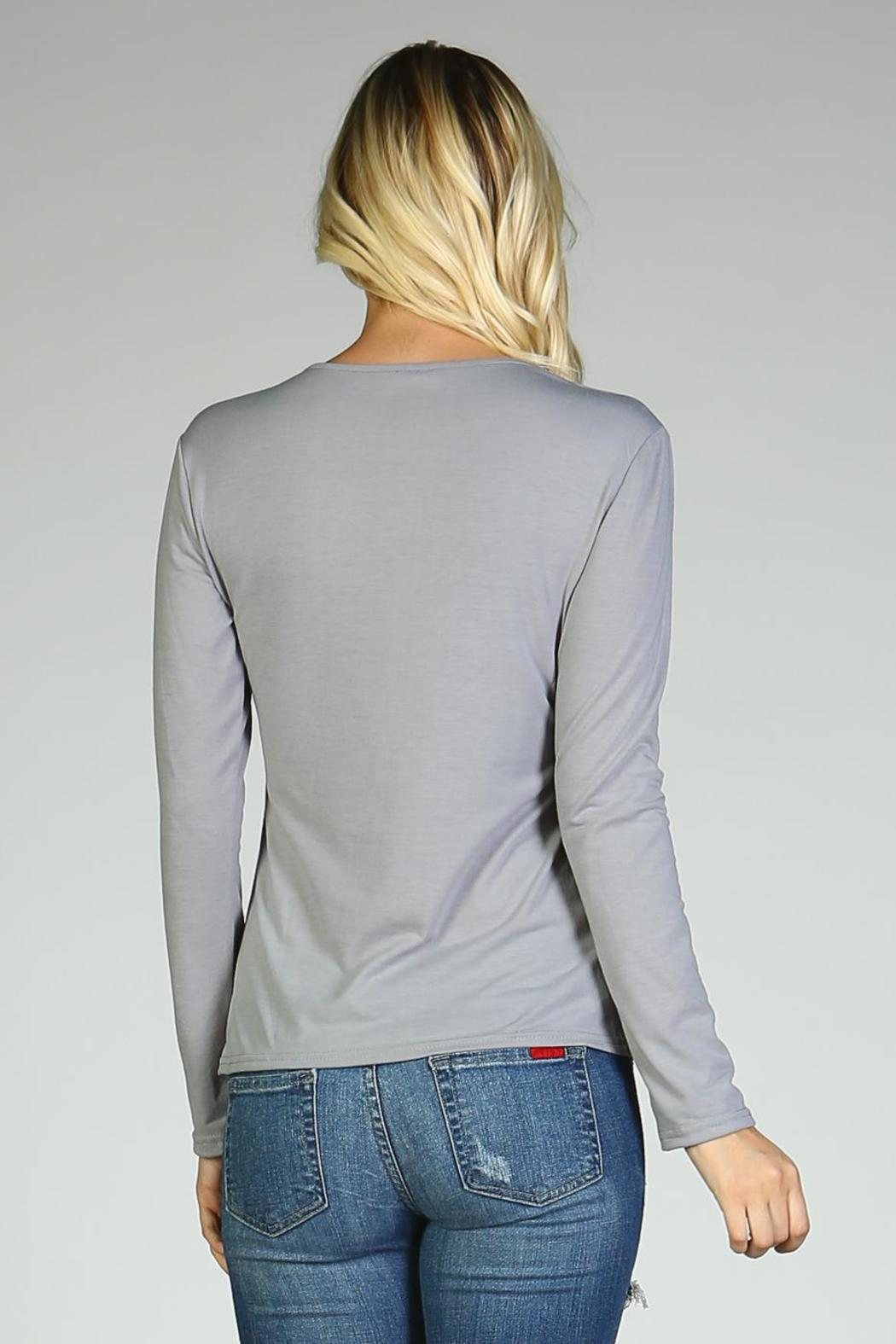 Racine Lace Me Up Top - Back Cropped Image