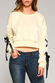 Racine Lace-Up Sleeve Top - Front full body