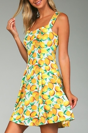 Racine Lemon Print Dress - Product Mini Image