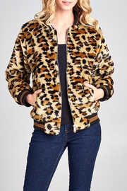 Racine Leopard Fur Bomber-Jacket - Product Mini Image