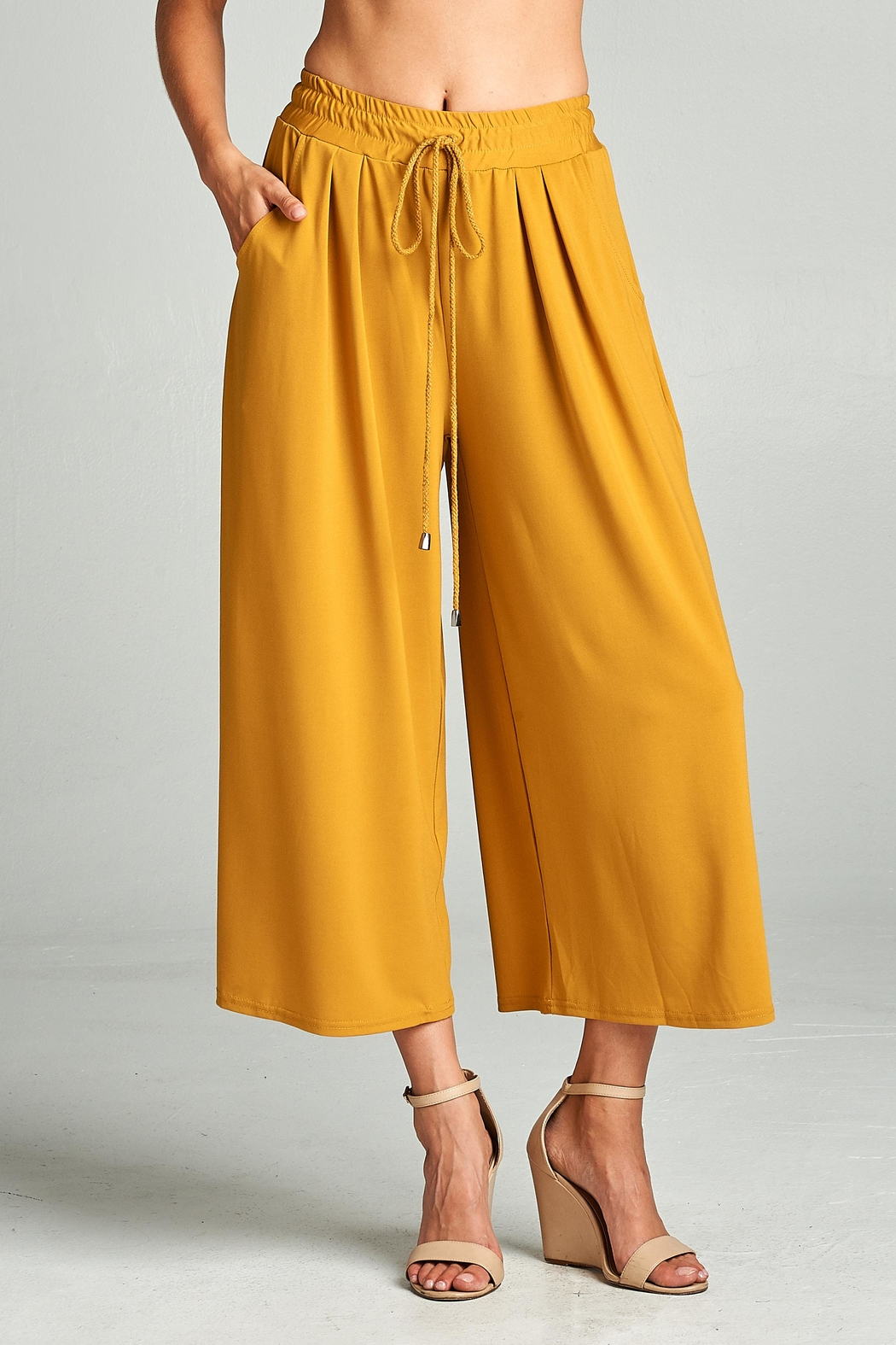 Racine Mustard Palazzo Pants From California By Racine
