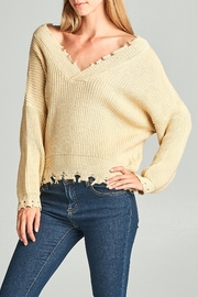 Racine Oversize Frayed Sweater - Front full body
