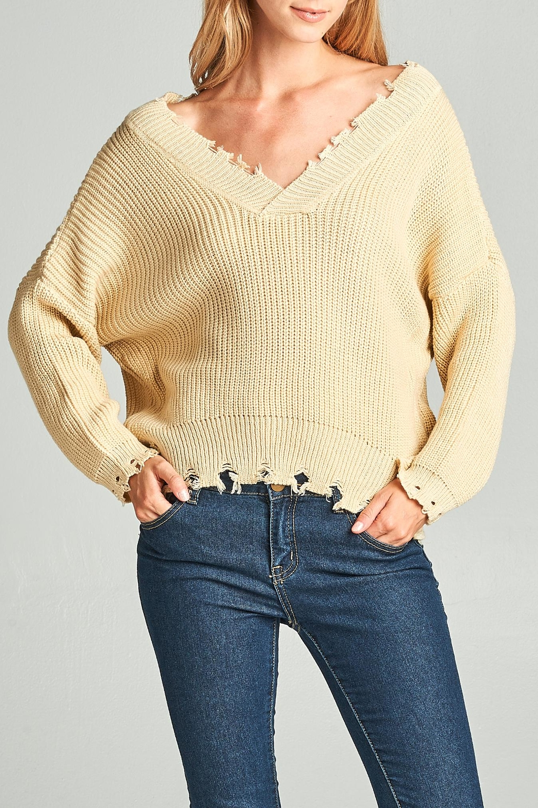 Racine Oversize Frayed Sweater - Main Image