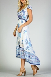Racine Peacock Print-Maxi Dress - Product Mini Image