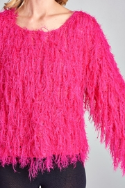 Racine Pink Fur Sweater - Back cropped
