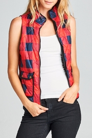 Racine Plaid Puff Vest - Product Mini Image