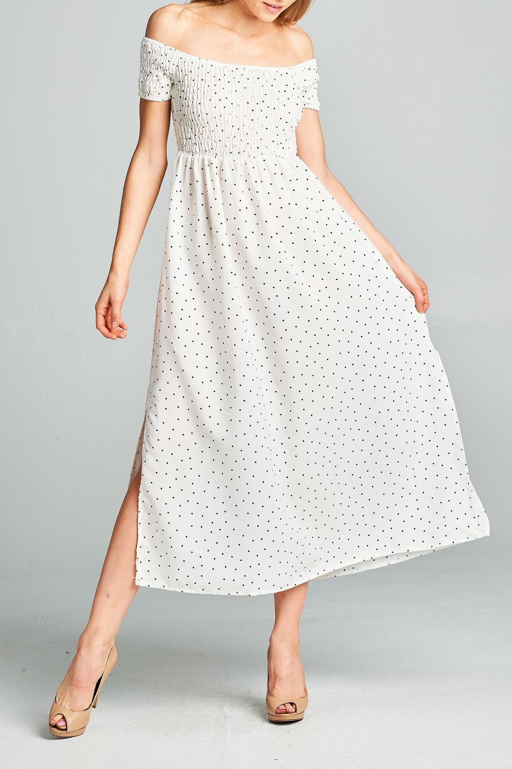 Racine Polka Dot Midi Dress - Main Image