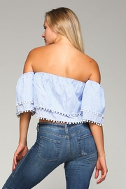 Racine Pom Pom Top - Back cropped