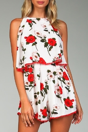 Racine White Floral Romper - Front cropped