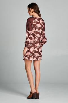 Shoptiques Product: Rose Print Choker Dress