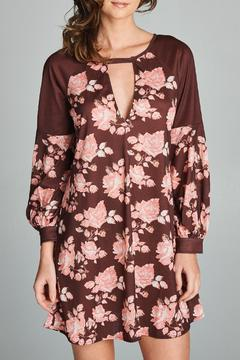 Racine Rose Print Choker Dress - Product List Image