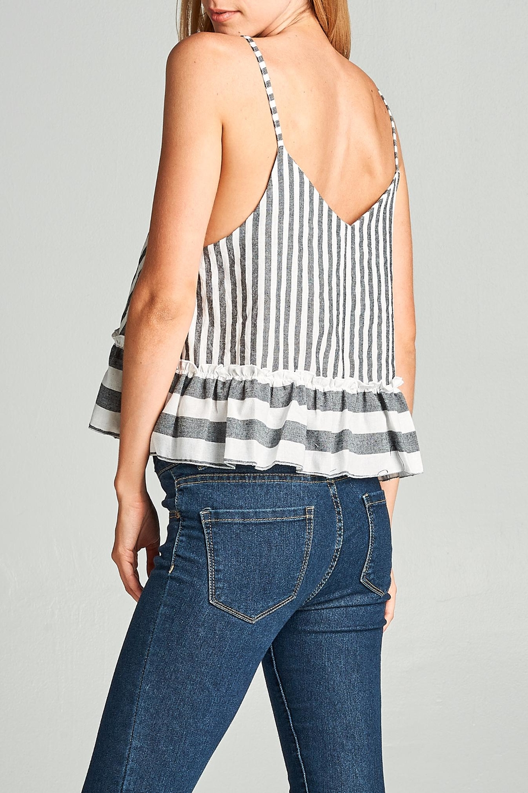 Racine Striped Crop Top - Side Cropped Image