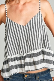 Racine Striped Crop Top - Back cropped