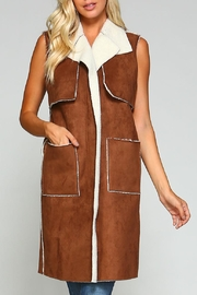 Racine Suede Fur Vest - Product Mini Image