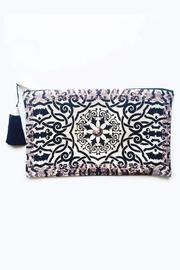 Racine Taupe Henna Clutch - Product Mini Image