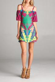 Racine Tropical Cold-Shoulder Dress - Product Mini Image