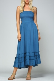 Racine Tropical Solid Dress - Front cropped