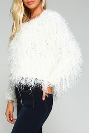 Racine White Fur Sweater - Product Mini Image