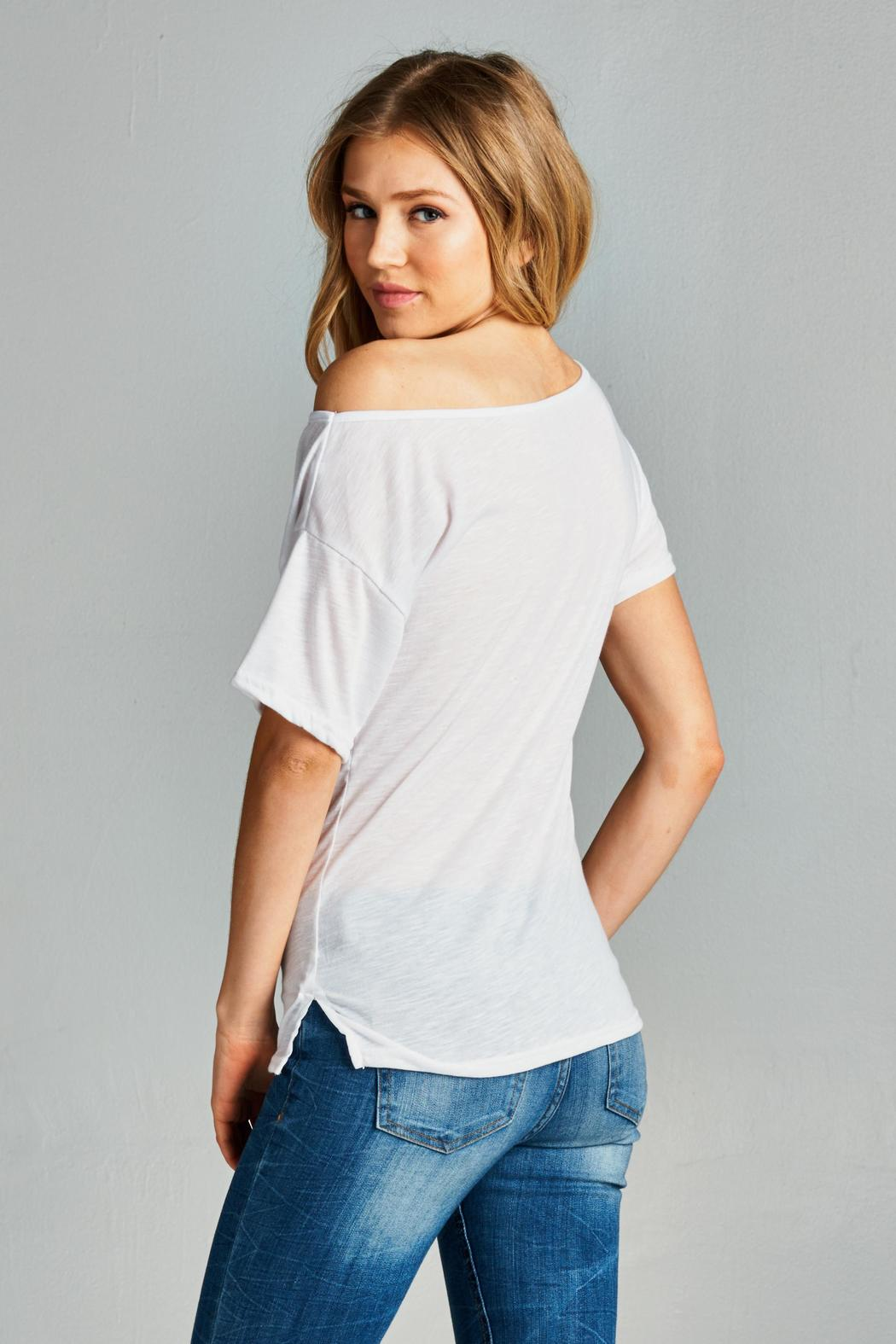 2d1402007af Racine White One Shoulder Tee from California by Racine Love ...