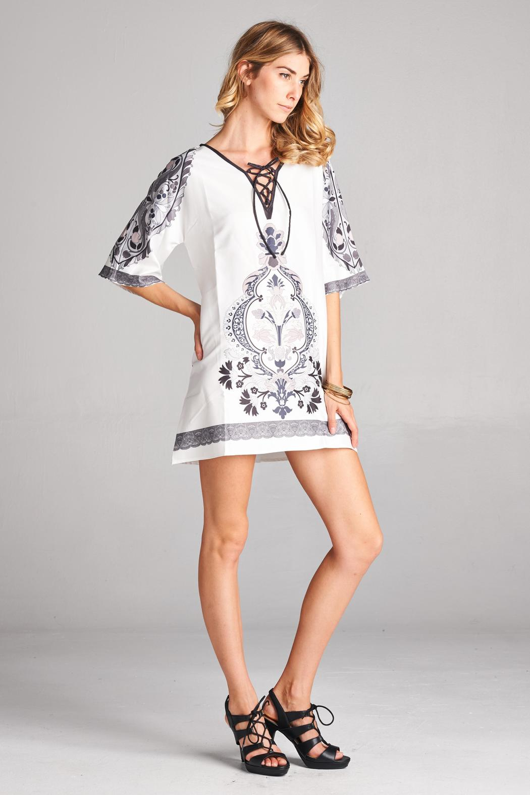 Racine White Tunic Top - Side Cropped Image