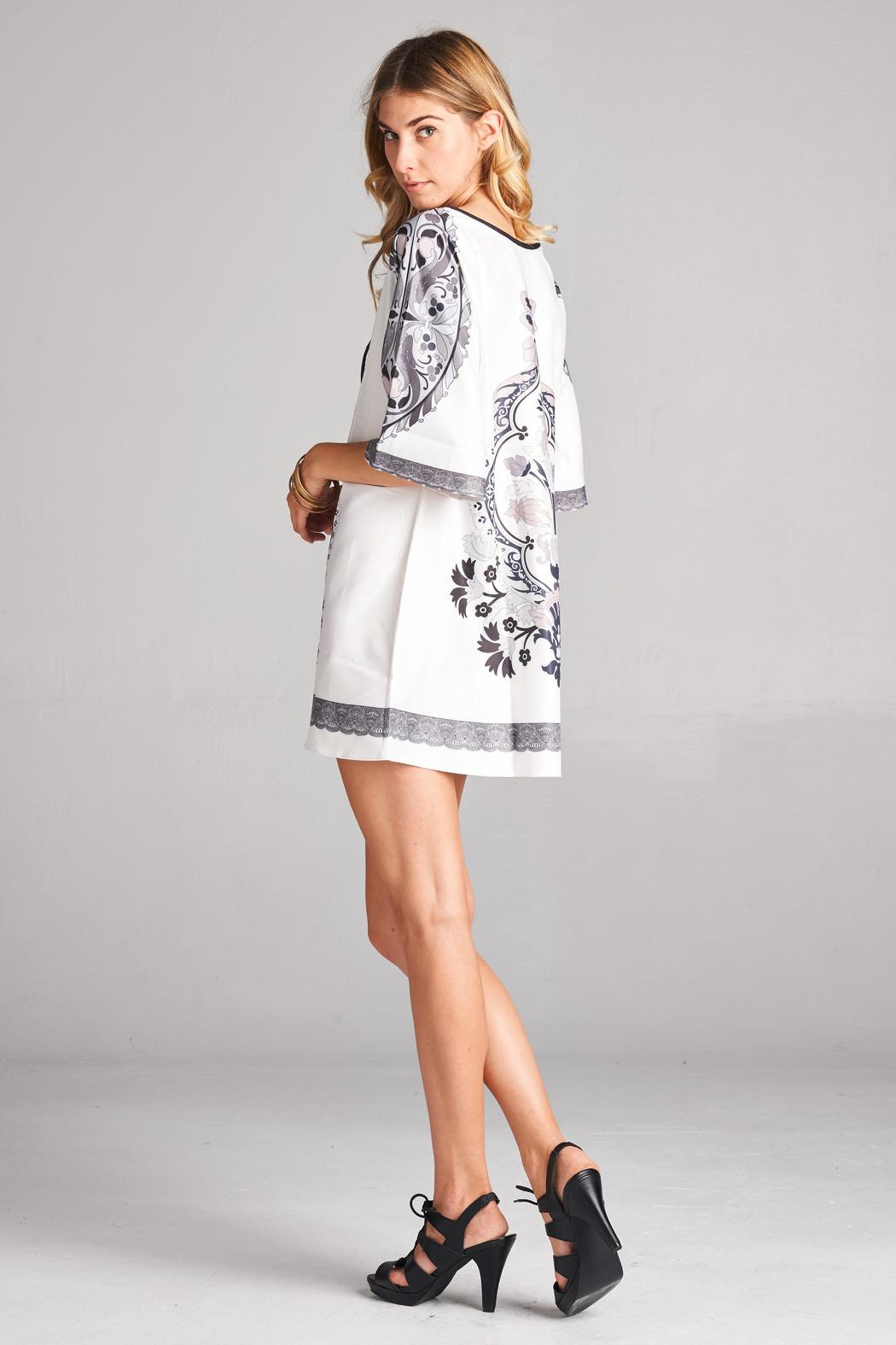 Racine White Tunic Top - Back Cropped Image