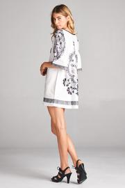 Racine White Tunic Top - Back cropped