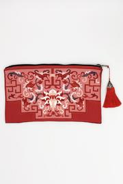Racine Wine Print Clutch - Product Mini Image