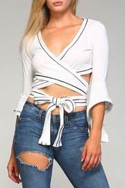 Racine Wrap Tie Crop Top - Front cropped