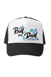 Grom Squad Rad Like Dad Trucker Hat - Front cropped