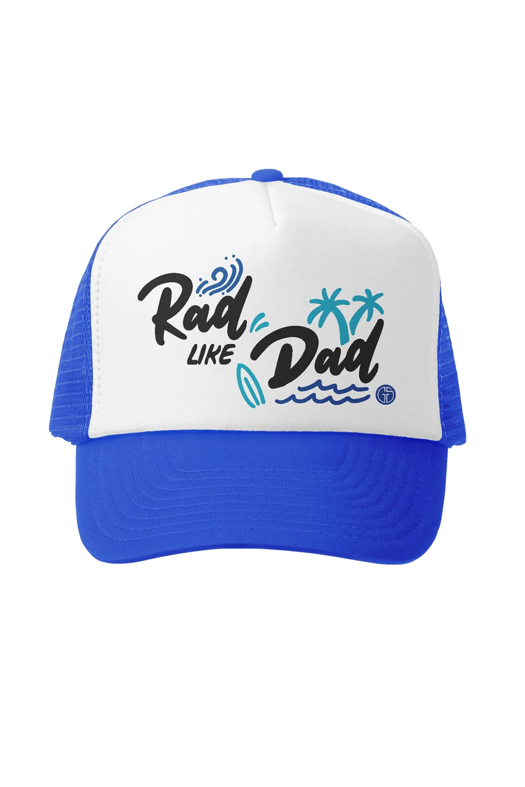 Grom Squad Rad Like Dad Trucker Hat - Front Cropped Image
