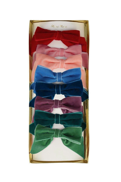 Shoptiques Product: Radiant Velvet Bow Hair Clips