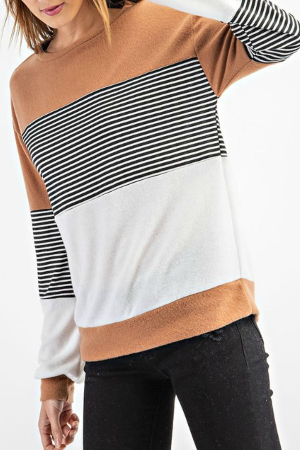 RAE MODE Rae Colorblock Sweater - Side Cropped Image