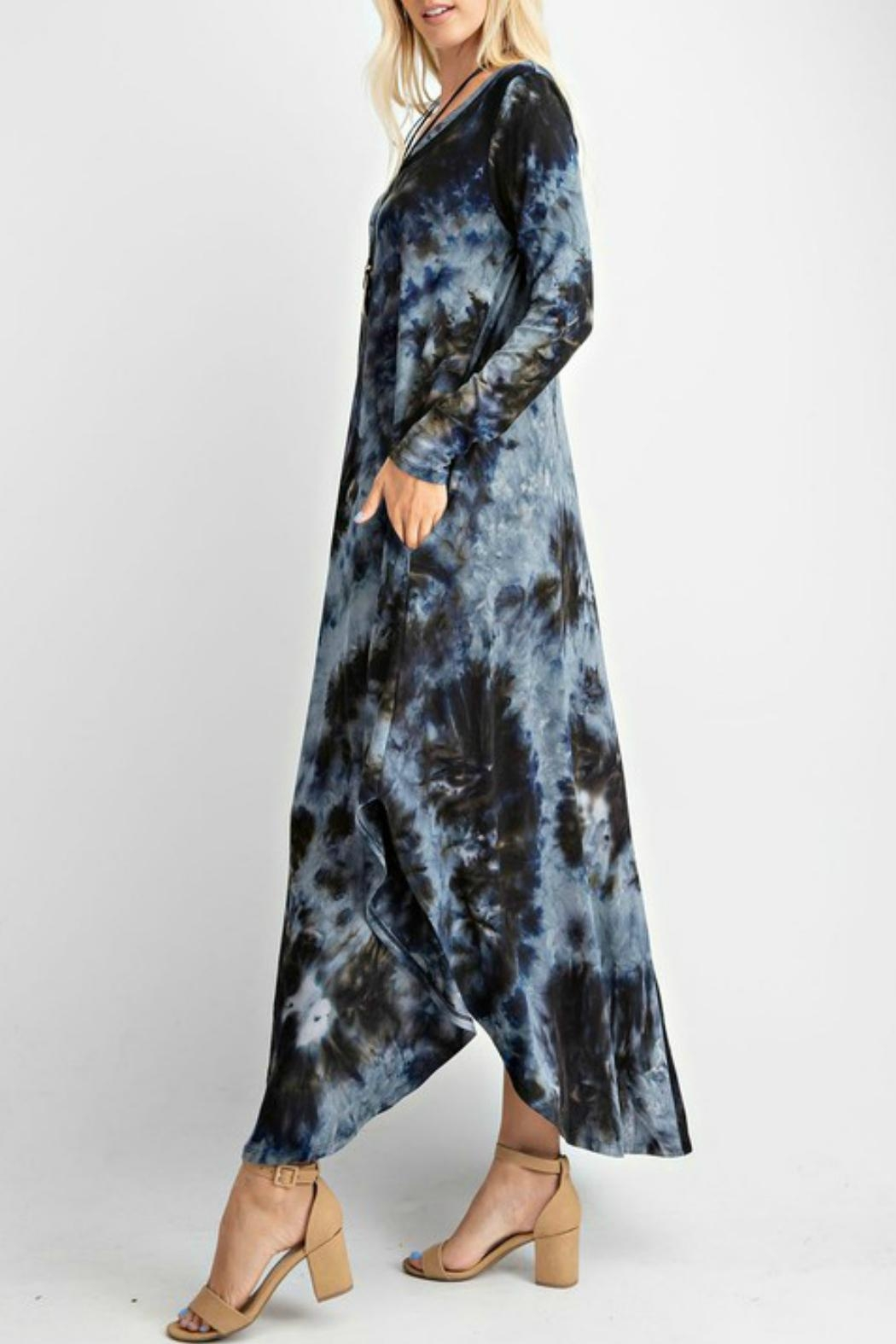 RAE MODE Tie Dye Pocketed Dress - Front Full Image