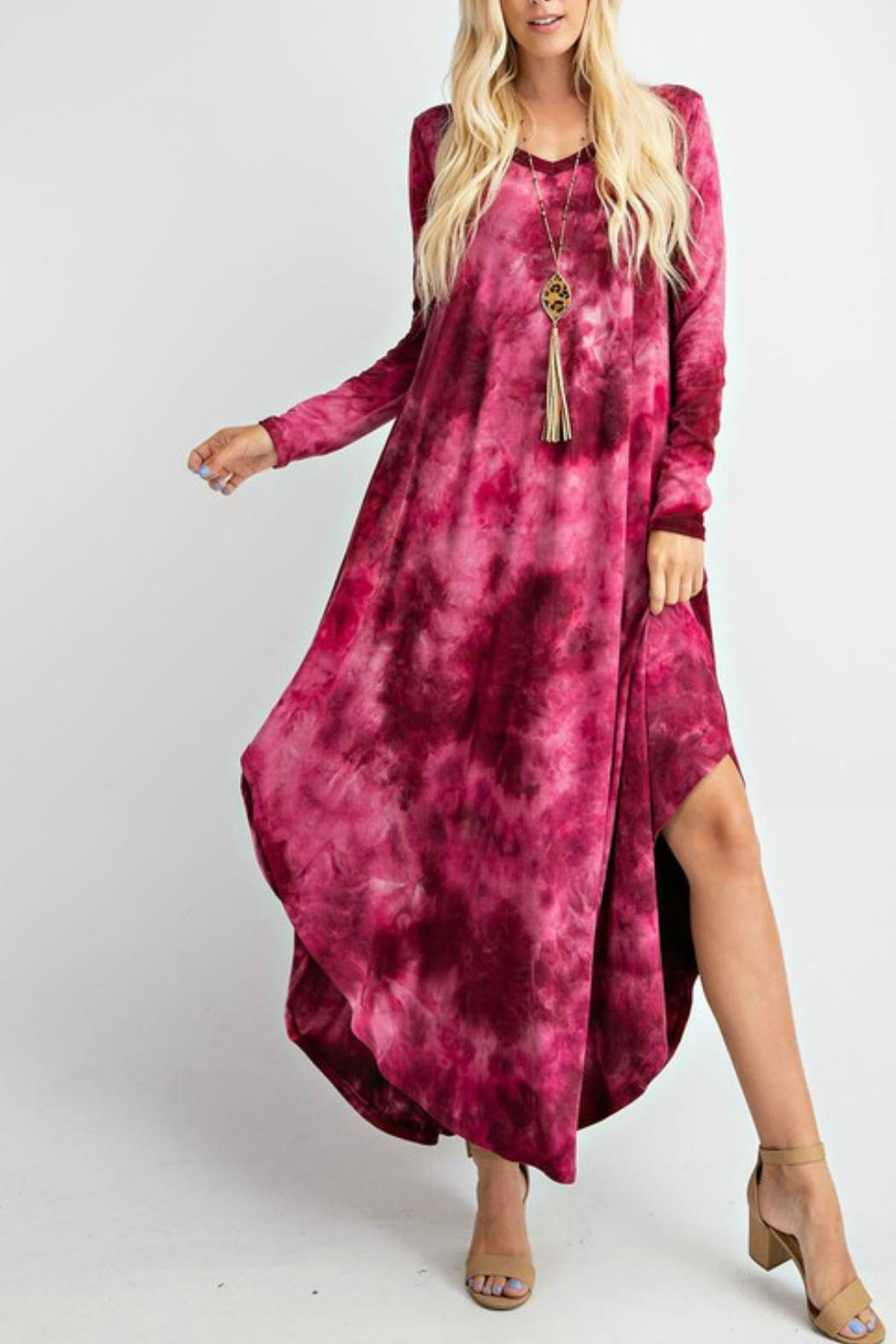 RAE MODE Tie Dye Pocketed Dress - Front Cropped Image