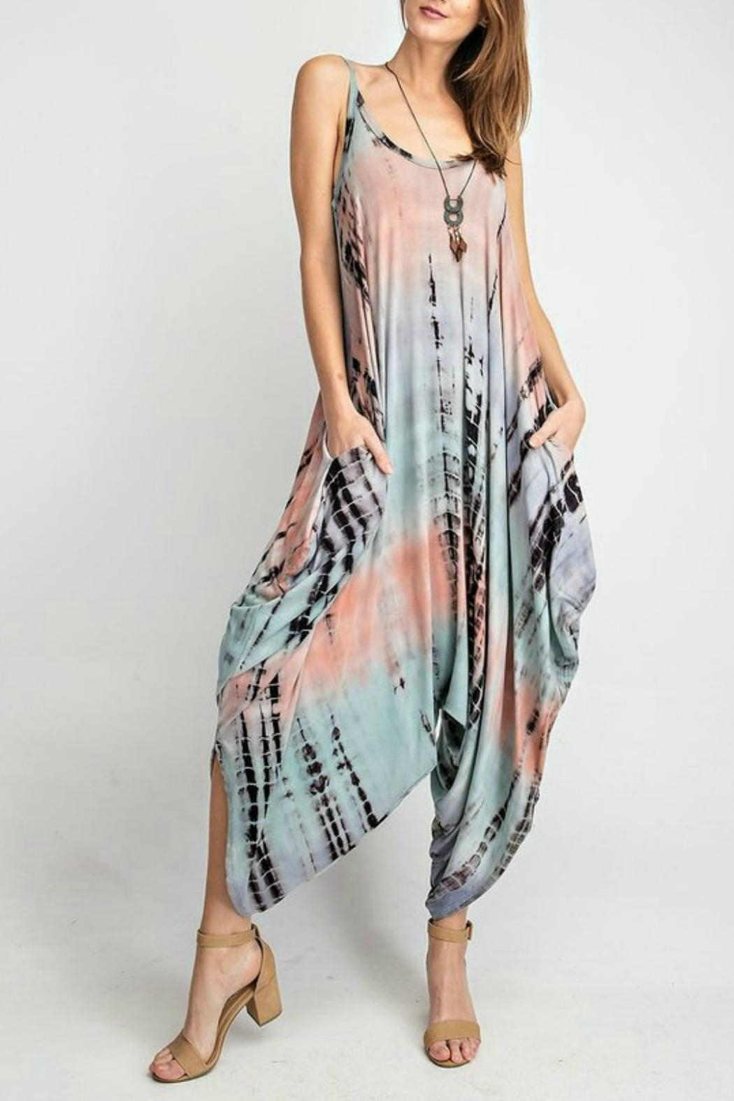 RAE MODE Tie-Dye Pocketed Jumpsuit - Front Cropped Image