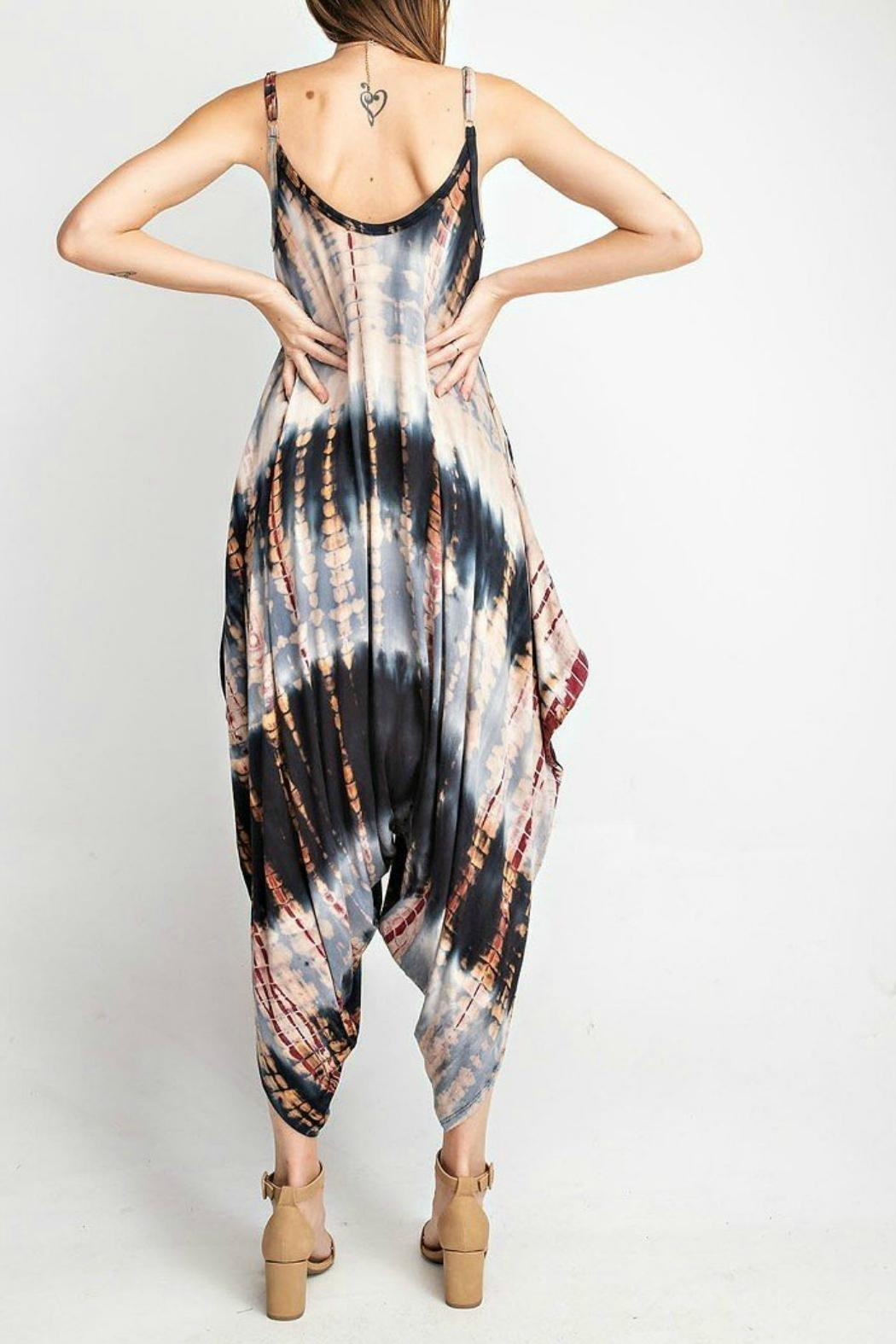 RAE MODE Tie-Dye Pocketed Jumpsuit - Front Full Image