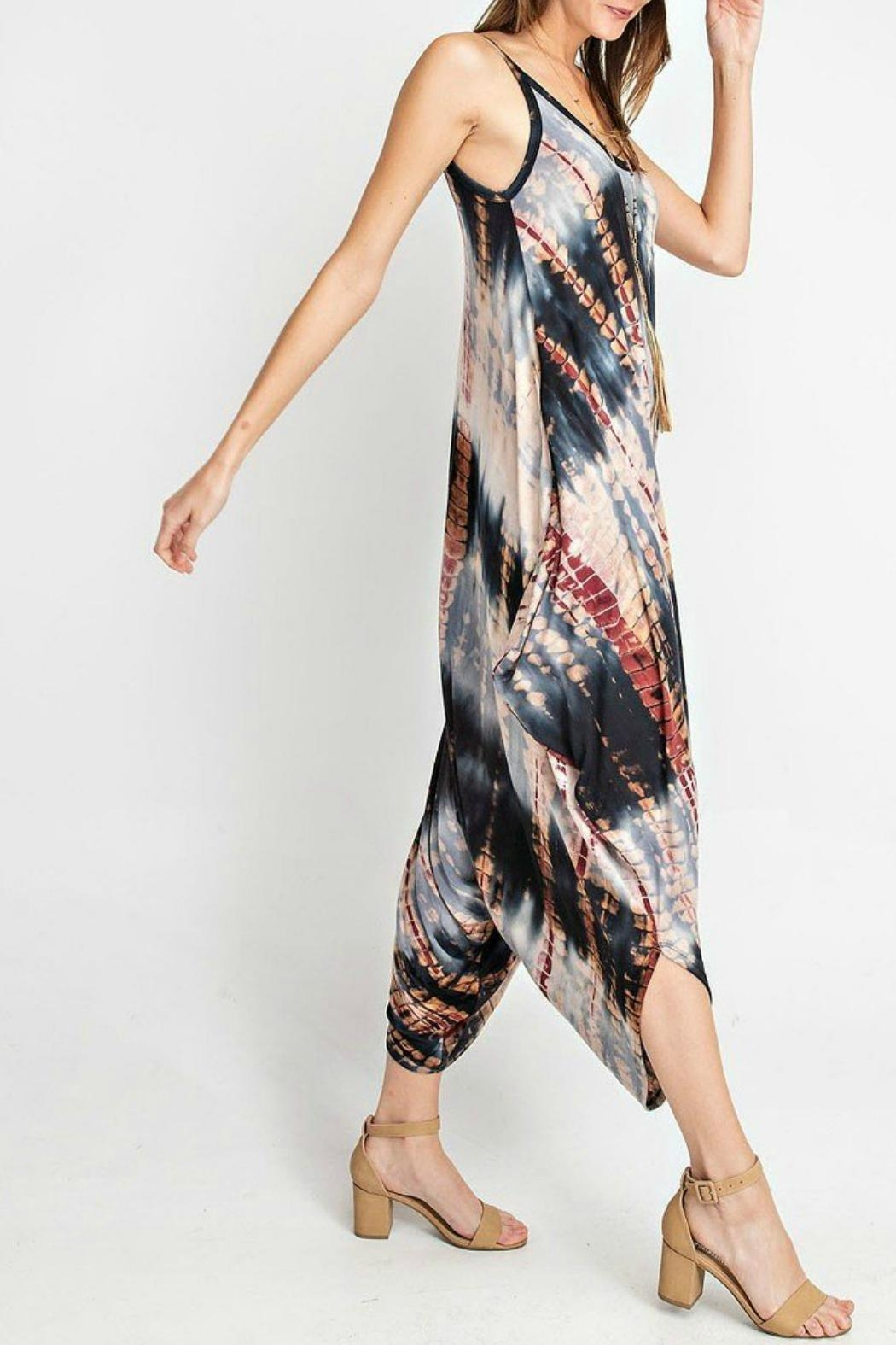 RAE MODE Tie-Dye Pocketed Jumpsuit - Side Cropped Image