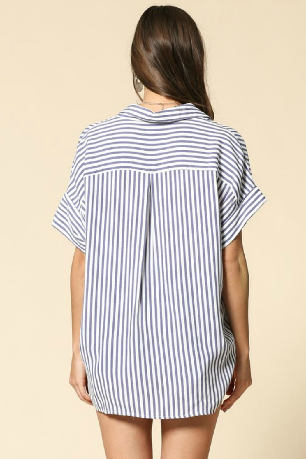 By Together Raegan Striped Top - Side Cropped Image