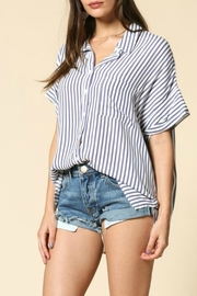 By Together Raegan Striped Top - Back cropped