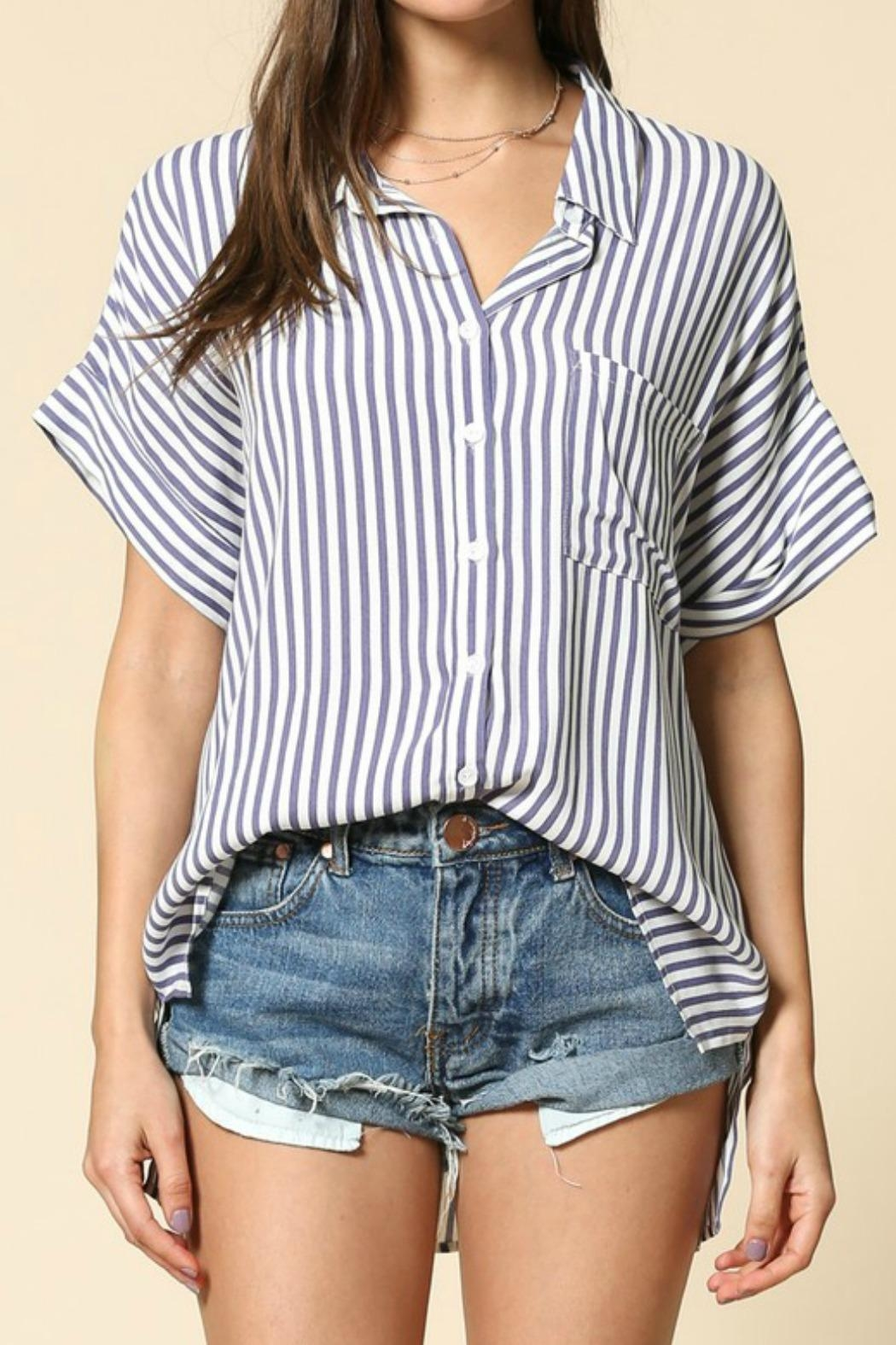 By Together Raegan Striped Top - Front Full Image