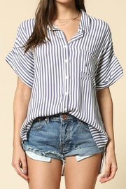 By Together Raegan Striped Top - Front full body